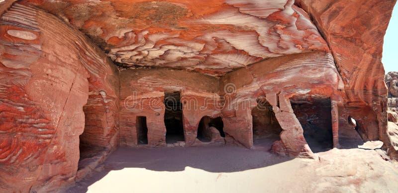 Sandstone rock at Petra i. N Jordan royalty free stock image