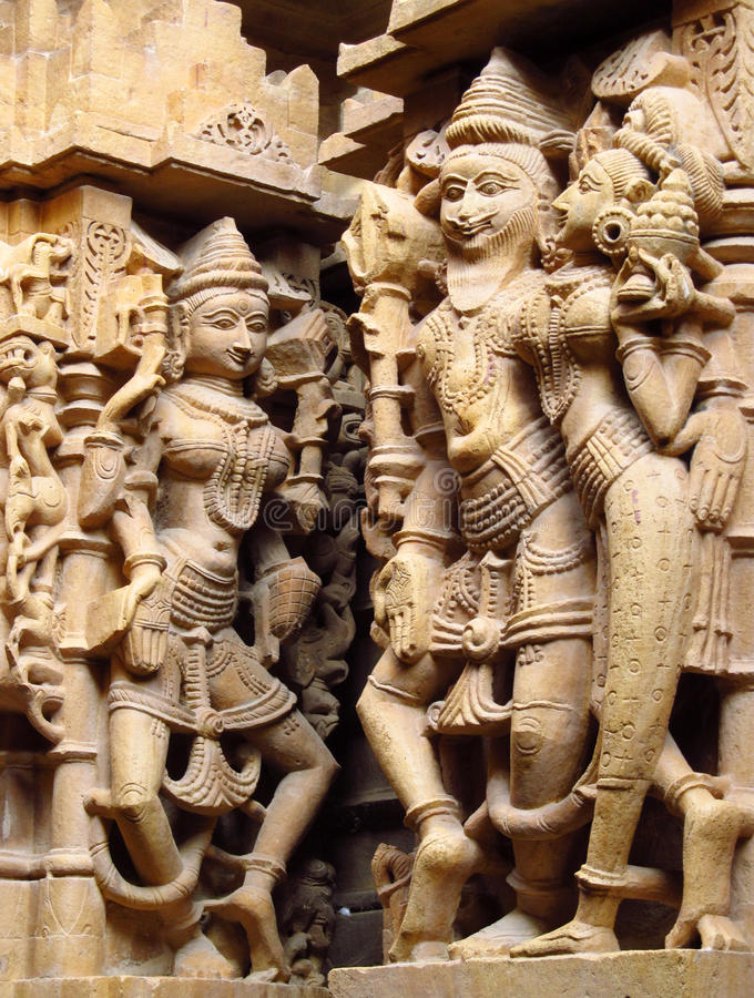 Free Sandstone Sculptures Of People In India Royalty Free Stock Image - 50913416