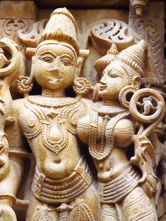 Free Sandstone Sculptures Of People In India Royalty Free Stock Image - 50913646