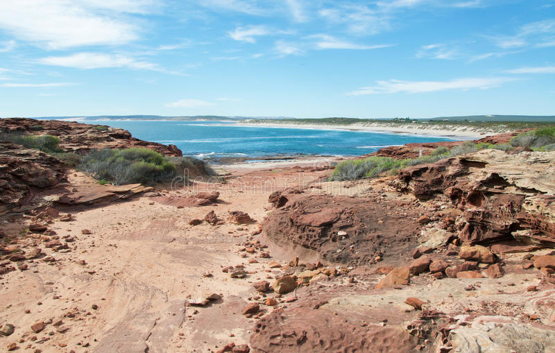 Sandstone Trail with Indian Ocean royalty free stock photography