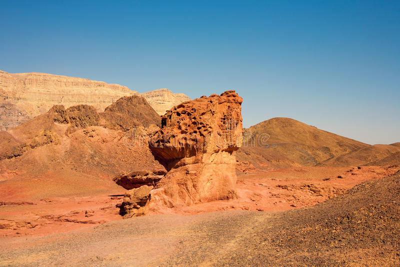 Sandstones in Timna Park, Israel royalty free stock image