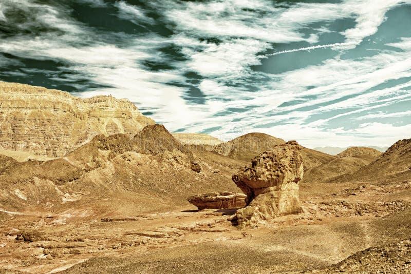 Sandstones in Timna park stock photos