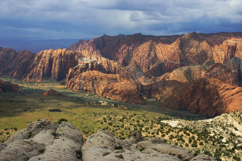 Download Sandstones In To Snow Canyon - Utah Stock Image - Image of green, southwest: 6807069
