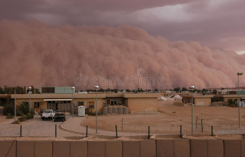 Sandstorm in Iraq. 2005. Came in suddenly royalty free stock photos