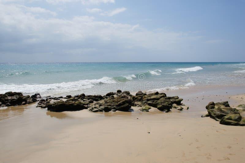 Sandstrand auf Fuerteventura stockfoto