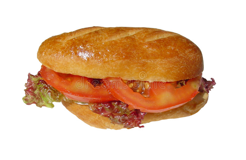 Download Sanduíche foto de stock. Imagem de salad, ingredientes, tomate - 60042