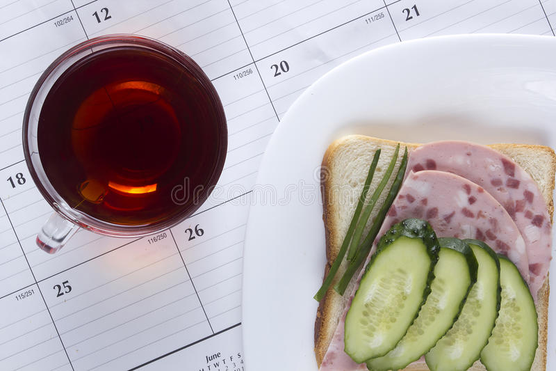 Sanduíche aberto fresco fotografia de stock