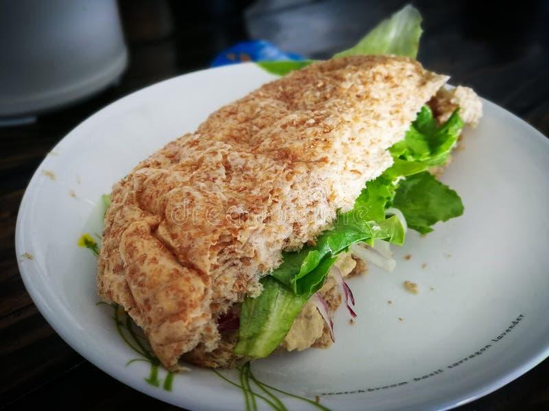 Sanduíche caseiro com vegetais extra imagens de stock