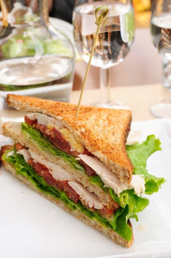 Sanduíche com bacon imagem de stock