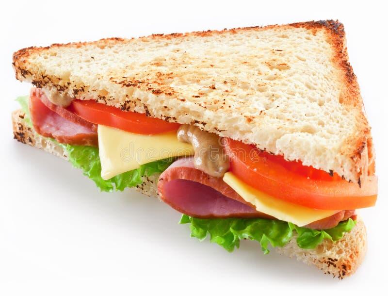 Sanduíche com bacon imagens de stock royalty free