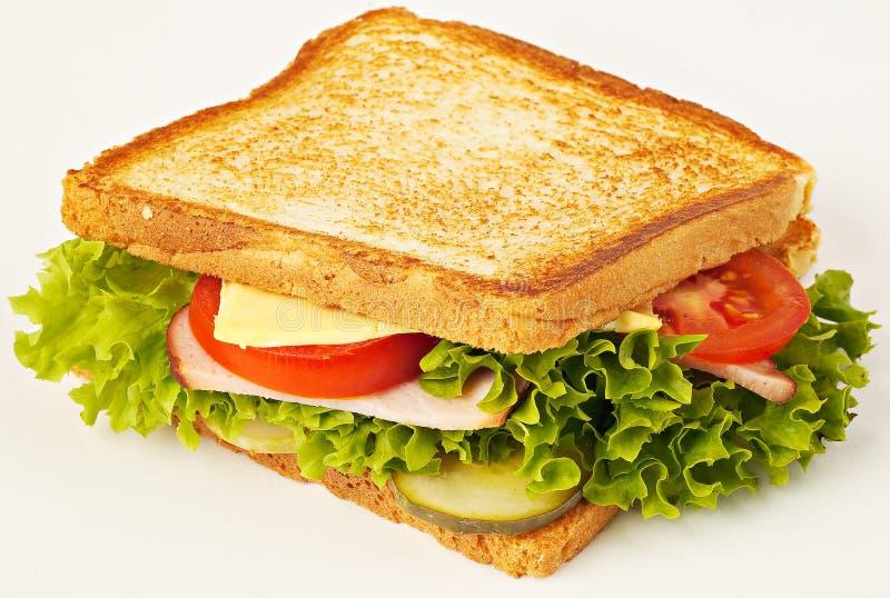 Sanduíche com bacon e tomates foto de stock