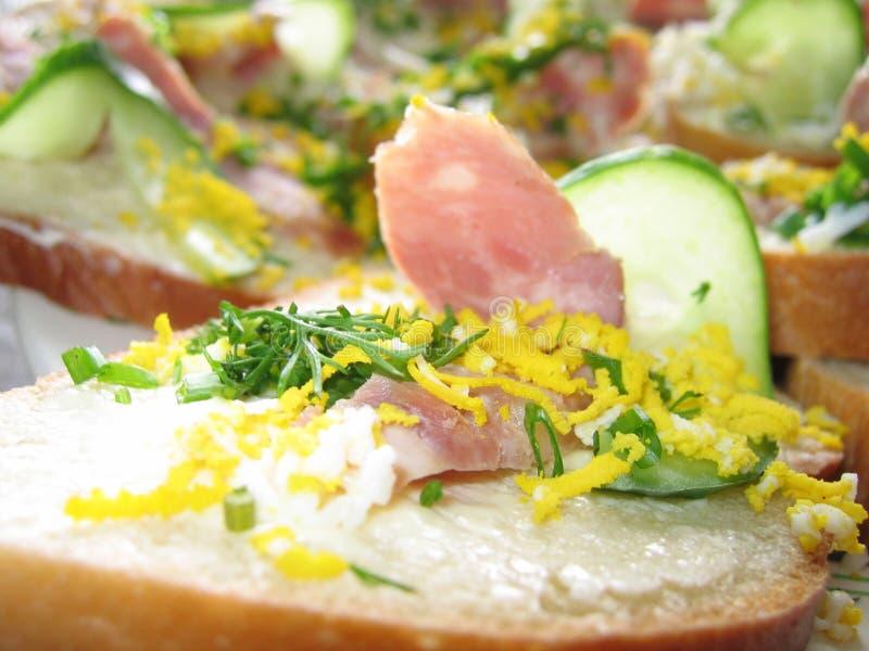 Sanduíche Com Presunto E Pepino Foto de Stock