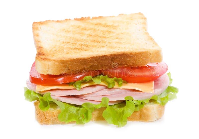 Sanduíche com presunto e vegetais foto de stock royalty free