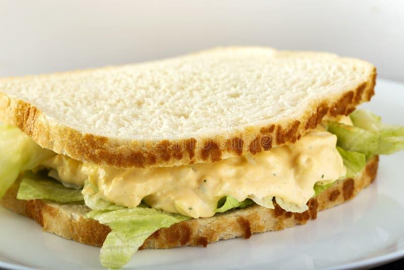 Sanduíche com salada de ovo fotos de stock royalty free