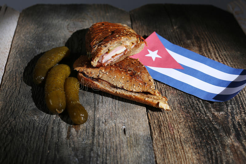 Sanduíche cubano imagens de stock
