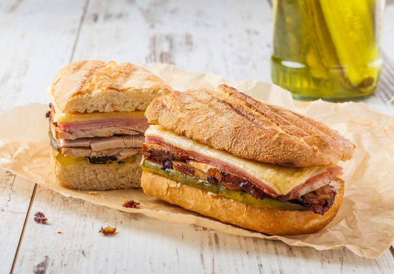 Sanduíche cubano imagem de stock