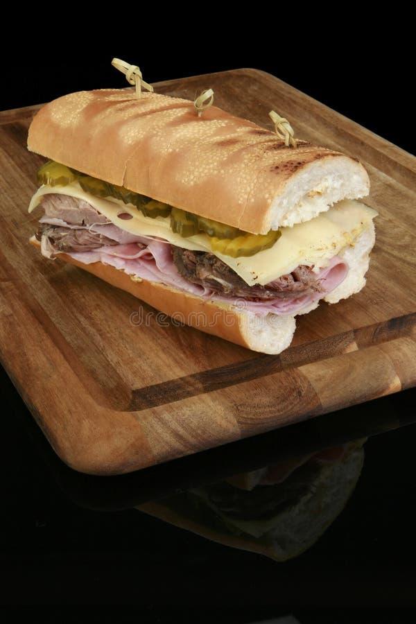 Sanduíche cubano grelhado fotos de stock