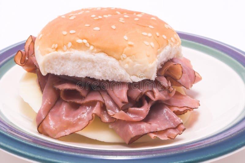Sanduíche da carne do assado fotos de stock