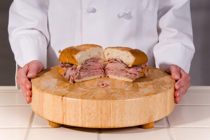 Sanduíche da carne do assado imagens de stock
