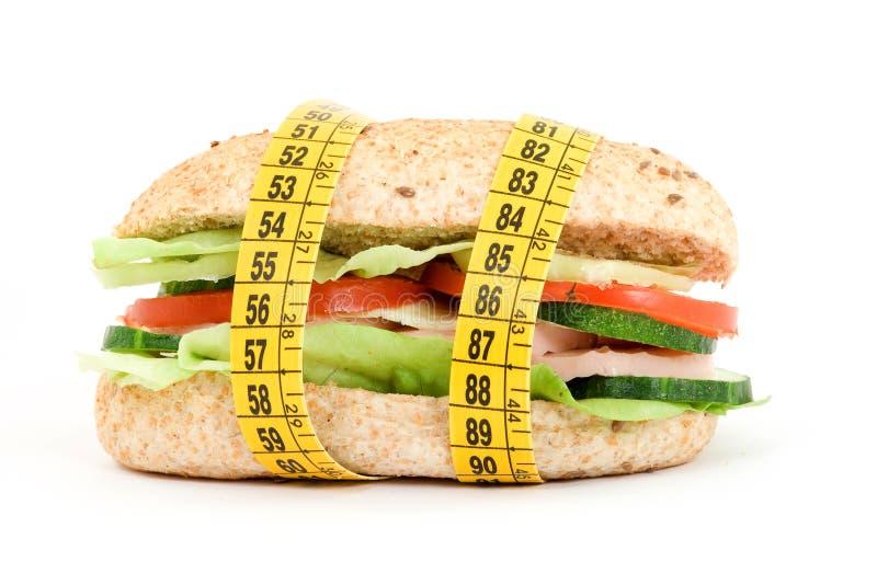 Sanduíche da dieta fotografia de stock