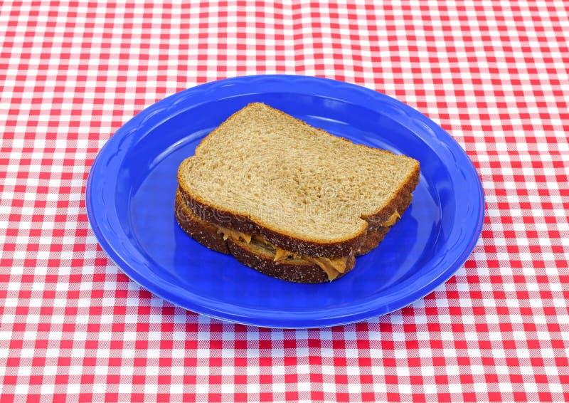 Sanduíche da manteiga de amendoim imagens de stock