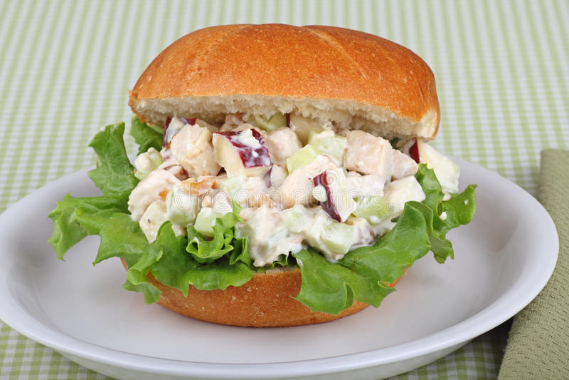 Sanduíche da salada da galinha fotografia de stock