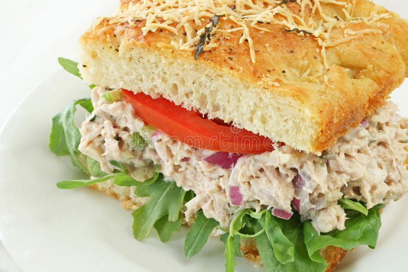 Sanduíche da salada do atum imagens de stock royalty free