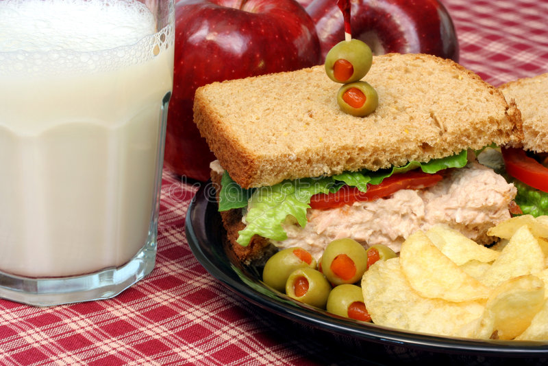 Sanduíche da salada do atum fotografia de stock