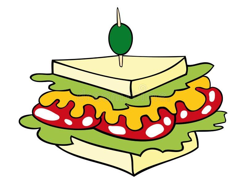Sanduíche de clube. ilustração do vetor