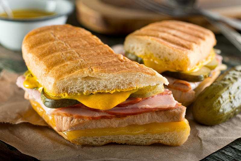 Sanduíche de Cubano do cubano imagem de stock