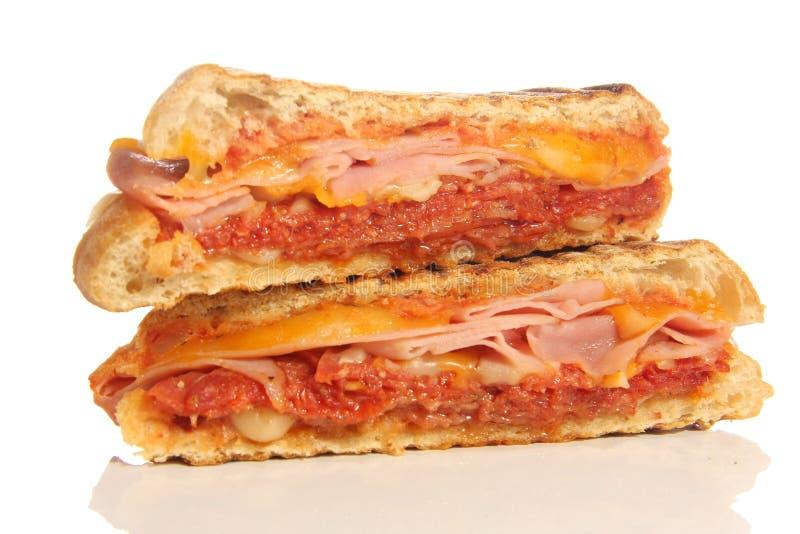 Sanduíche de Panini imagem de stock