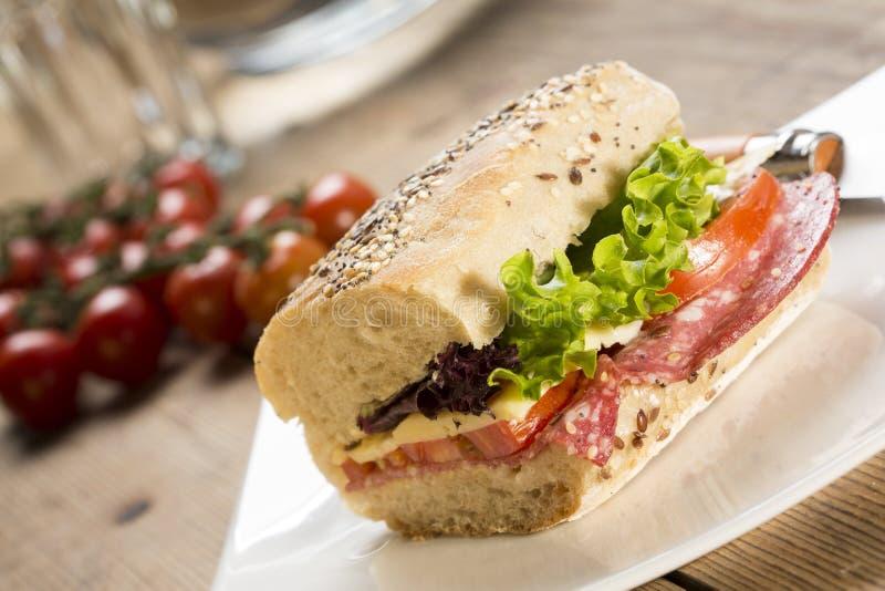 Sanduíche de Panini fotografia de stock
