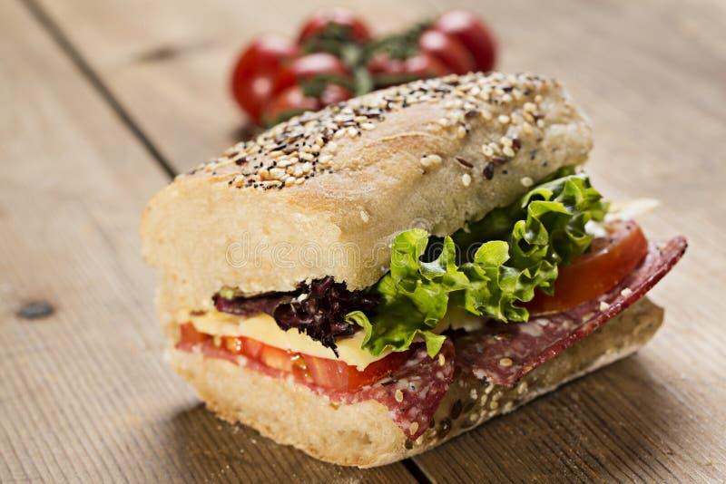 Sanduíche de Panini foto de stock