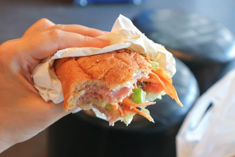 Sanduíche de presunto ou sanduíche fotografia de stock royalty free