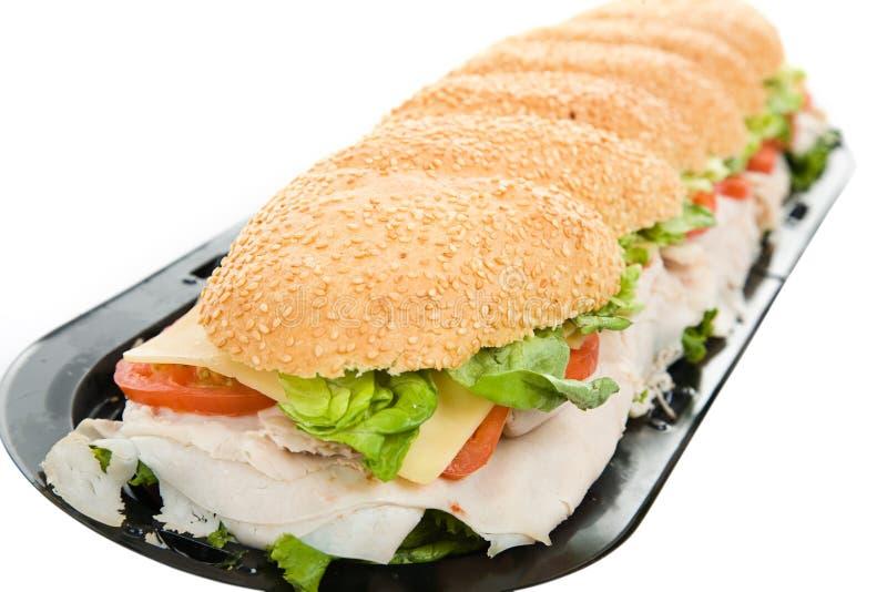 Sanduíche de turquia de três pés imagens de stock royalty free