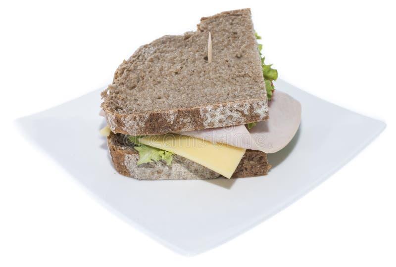 Sanduíche de turquia (fundo branco) imagem de stock royalty free