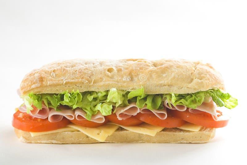 Sanduíche delicioso do tomate da alface do queijo do presunto fotos de stock