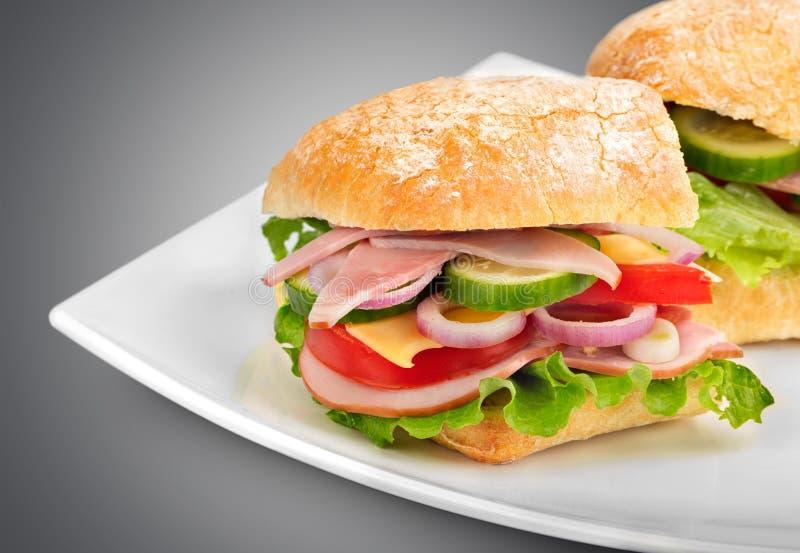 Sanduíche do almoço imagem de stock royalty free
