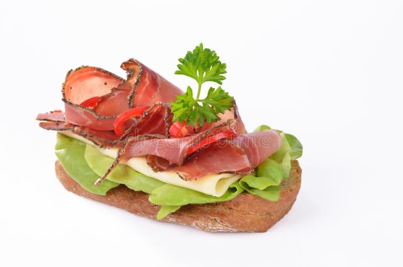 Sanduíche do bacon fotografia de stock
