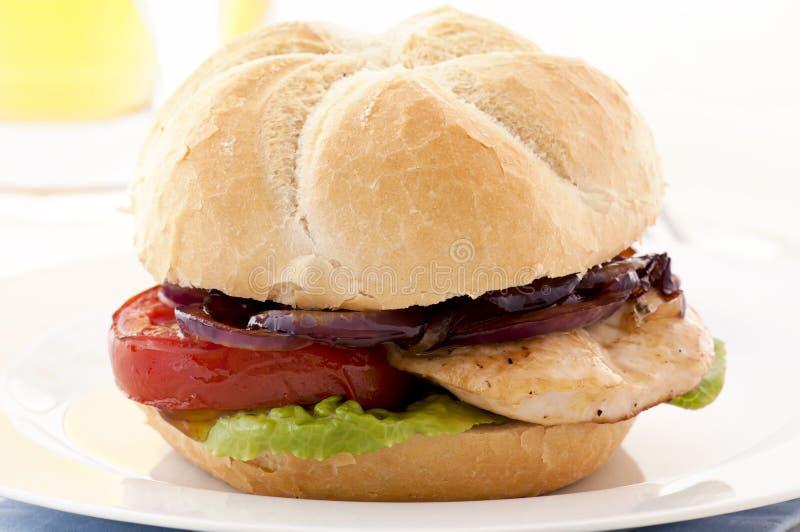 Sanduíche do bife imagens de stock