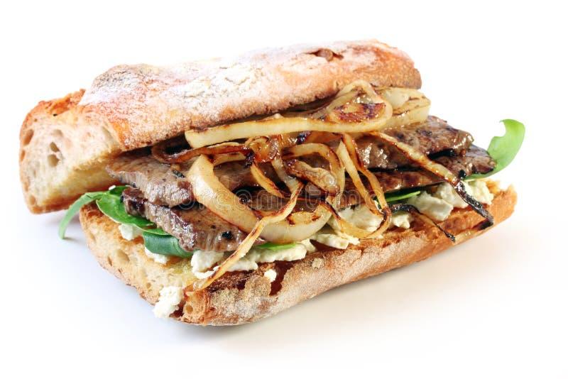 Sanduíche do bife imagem de stock