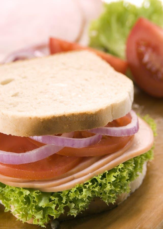 Sanduíche do pão branco imagem de stock royalty free