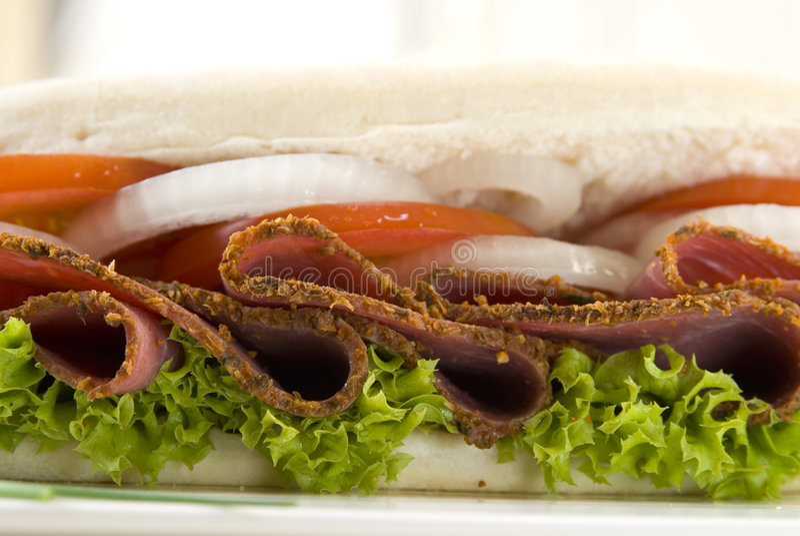 Sanduíche do Pastrami fotografia de stock royalty free