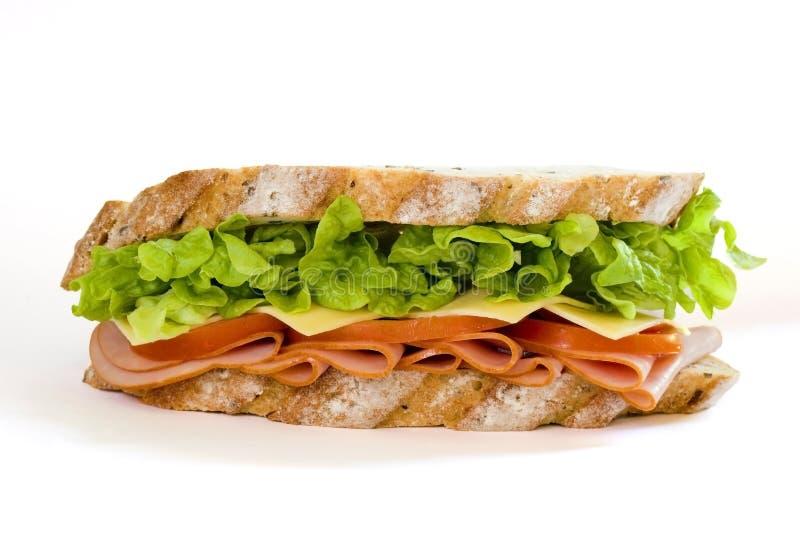 Sanduíche do presunto e da salada fotografia de stock