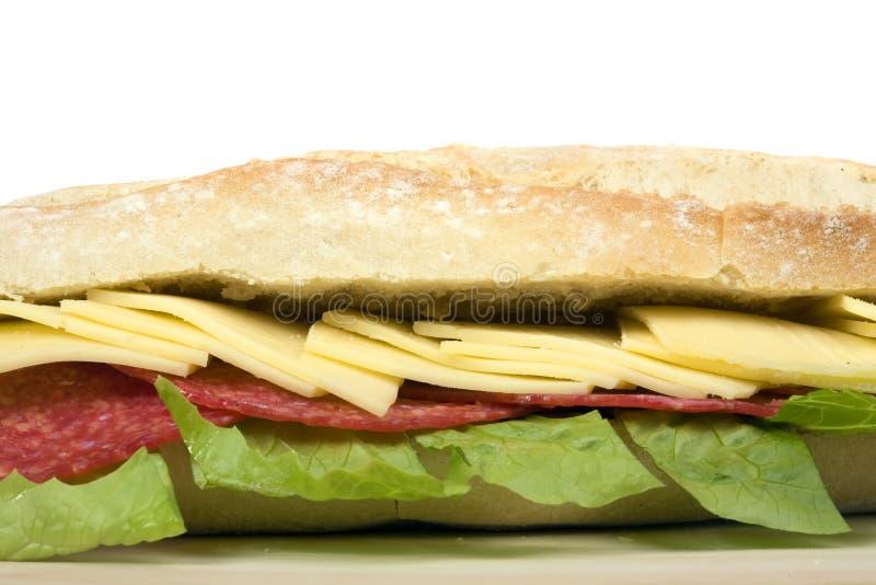 Sanduíche do Salami foto de stock royalty free