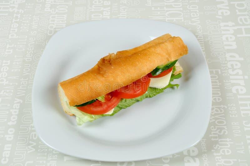 Sanduíche do tomate e do queijo imagem de stock royalty free