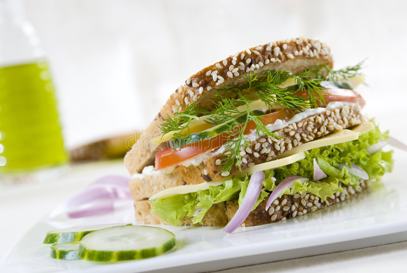 Sanduíche do vegetariano imagens de stock royalty free