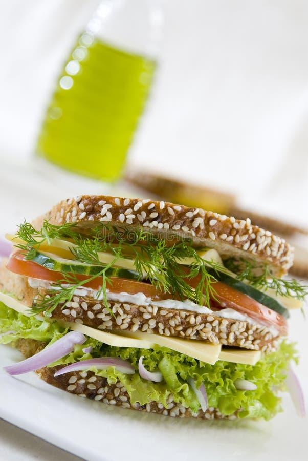 Sanduíche do vegetariano imagem de stock royalty free