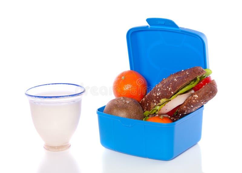Sanduíche e frutas foto de stock