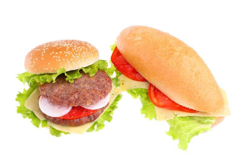 Sanduíche e Hamburger imagens de stock royalty free